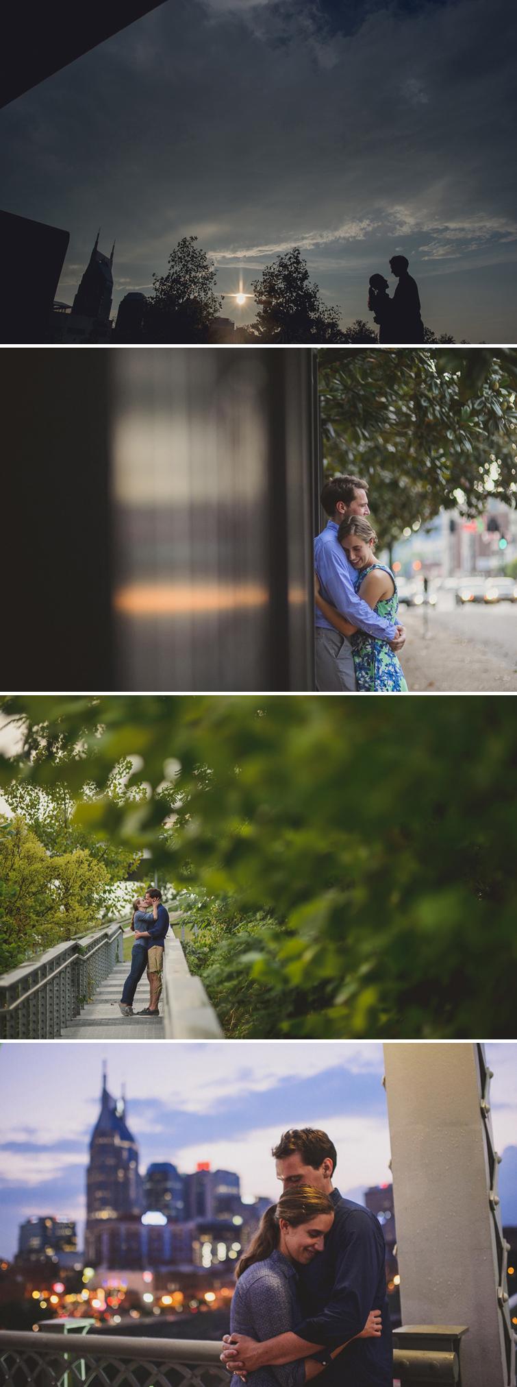 downtown engagement photos
